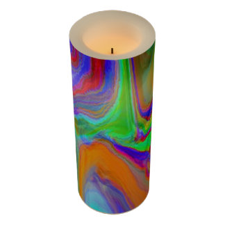 """""""And then time Wrinkled"""" Wrapped LED Candle"""