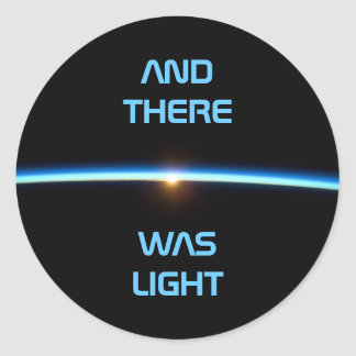 """""""AND THERE WAS LIGHT"""" Thin Blue Line Sticker"""