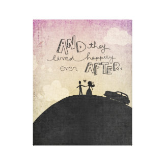 And They Happily Ever After by VOL25 Canvas Print