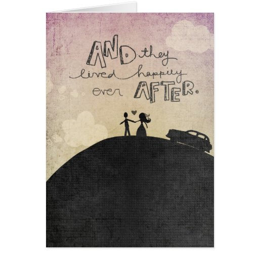And They Lived Greeting Card