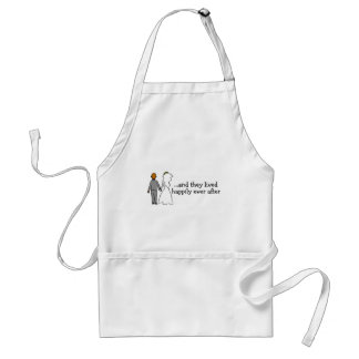 And They Lived Happily Ever After Bride and Groom Adult Apron