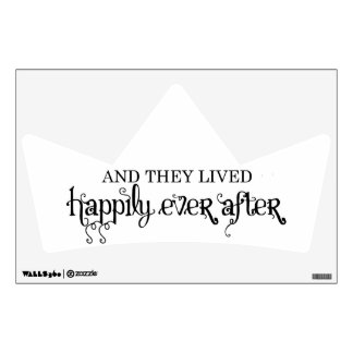 And they lived happily ever after crown wall decal