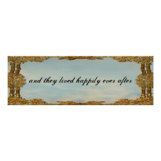 And They Lived Happily Ever After Fairy Tale Poster