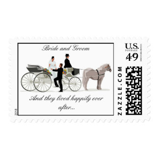 And they lived happily ever after Postage Stamp