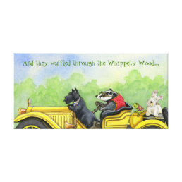 And They Wuffled Through The Whippety Wood Canvas Print