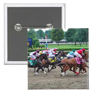 And They're off at Saratoga 2 Inch Square Button