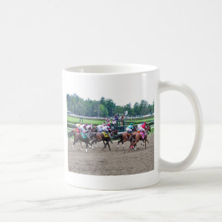 And They're off at Saratoga Classic White Coffee Mug