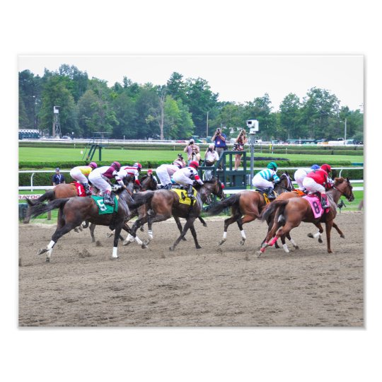 And They're off at Saratoga Photo Print
