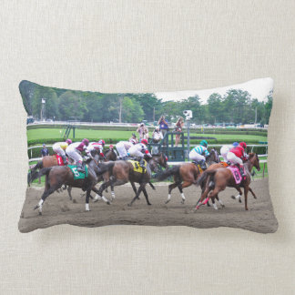 And They're off at Saratoga Throw Pillow