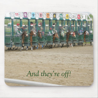 And they're off! mouse pad