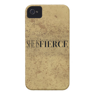 And though she be but little she is fierce iPhone 4 Case-Mate case