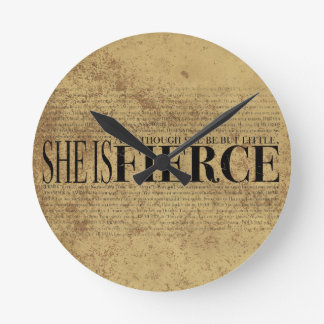 And though she be but little she is fierce wallclock