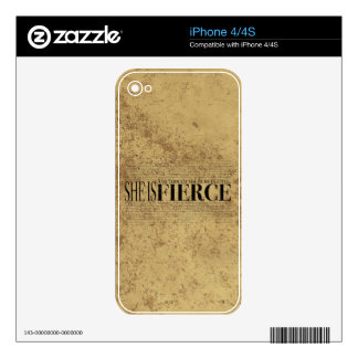 And though she be but little, she is fierce. iPhone 4 decals
