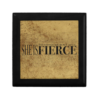 And though she be but little, she is fierce. jewelry box