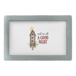 AND TO ALL A GOOD NIGHT BELT BUCKLE