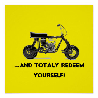 And totally redeem yourself Poster
