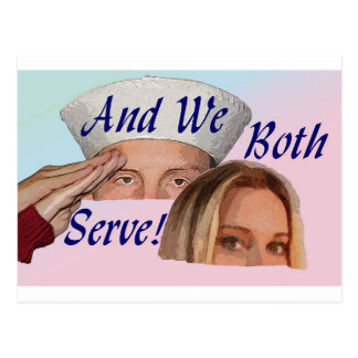 AND WE BOTH SERVE POSTCARD