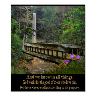 and we know that in all things poster