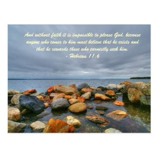 And without faith it is impossible to please God, Postcard