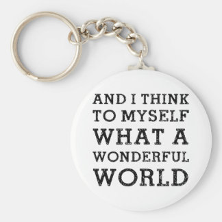And Wonderful World Keychain
