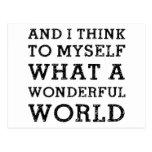 And Wonderful World Postcard