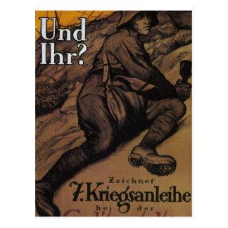 And you. (1917)_Propaganda Poster Postcard