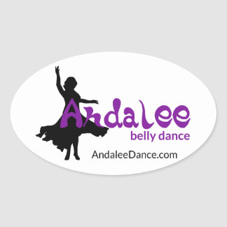Andalee Belly Dance Flair Oval Sticker