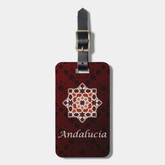 Andalucía arte de azulejo marroquí en etiquetas maleta