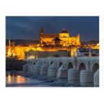 Andalucía - Mezquita en la postal de la puesta del