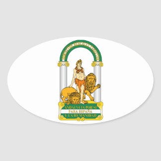 Andalucia (Spain) Coat of Arms Oval Sticker