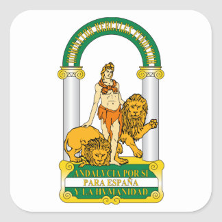 Andalucia (Spain) Coat of Arms Square Sticker