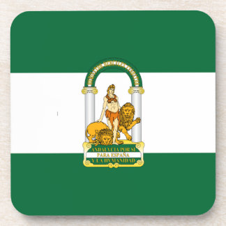 Andalucia Spain Flag Beverage Coasters