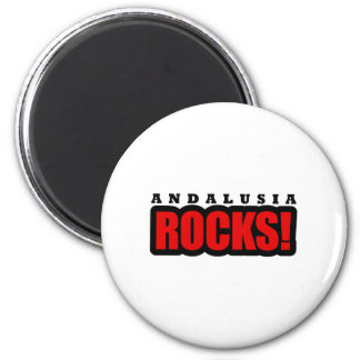 Andalusia, Alabama City Design 2 Inch Round Magnet