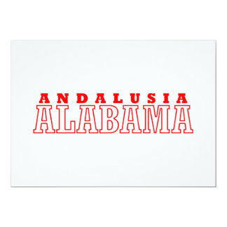 Andalusia, Alabama City Design Card