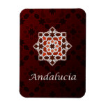 Andalusia art of tile and Moroccan ceramics in Rectangular Photo Magnet