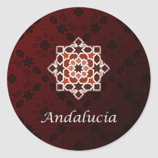 Andalusia art of tile and Moroccan ceramics in Classic Round Sticker