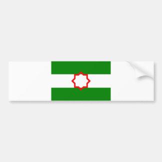 Andalusia ethnic flag spain bumper sticker
