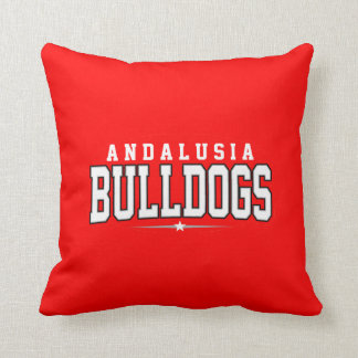 Andalusia High School; Bulldogs Throw Pillow
