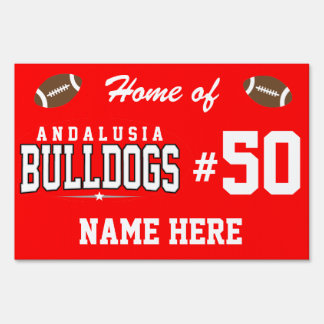 Andalusia High School; Bulldogs Lawn Signs