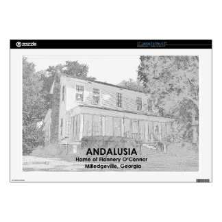 """Andalusia - Home of Flannery O Connor Decal For 17"""" Laptop"""