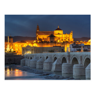Andalusia - Mezquita at sunset postcard