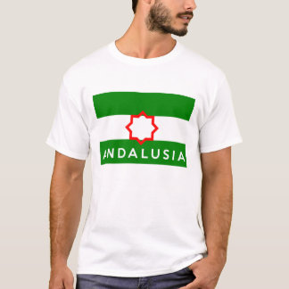 andalusia region flag spain country text name T-Shirt
