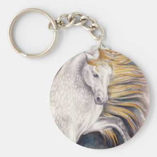 Andalusian Beauty Horse Basic Round Button Keychain