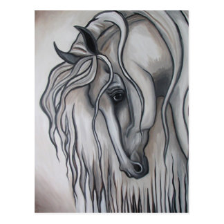 ANDALUSIAN black and white Postcard
