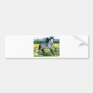 Andalusian Dapple Grey Horse Art Car Bumper Sticker