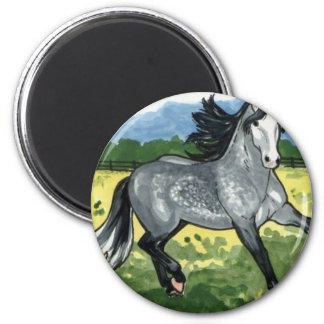 Andalusian Dapple Grey Horse Art Magnet
