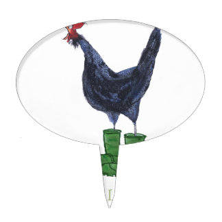 Andalusian Hen, tony fernandes Cake Topper
