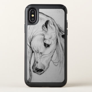 Andalusian Horse Art Drawing Speck iPhone X Case
