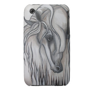 Andalusian Horse Black and White iPhone 3 Case-Mate Case