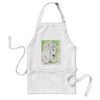 Andalusian Horse Green Adult Apron